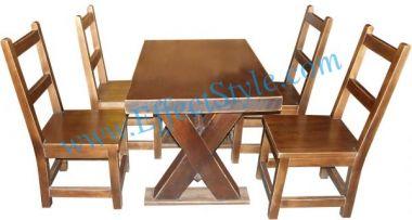 набор стол и стулья деревянные из массива