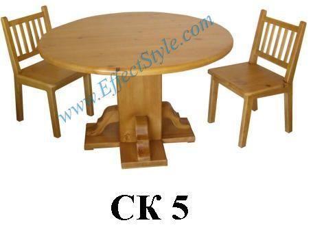 стол деревянный и стулья